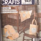 McCalls 9431 Quilted Baby Blanket Diaper Bag Jacket Carrier Cover Organizer Pattern UNCUT