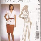McCalls 5817 (2009) Lined Jacket Belt Skirt Pants Pattern Size 6 8 10 12 14 UNCUT
