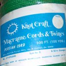 Vintage Knot Craft Herculon Macrame Persian Cord Size 5 5/32 Diameter 100 yards GREEN