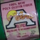 Vintage Cobra Poly-Olefin Fiber Macrame Weaving Cord 6mm 100 yards GREEN