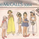 McCalls 5064 Vintage Girls Childs Shoulder Tie Dress Jumper Top Hat Pattern Size 4 UNCUT
