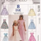McCalls 8675 (1997) Childs Girls Full Long Skirt Dress Pattern Size 2 3 4 CUT