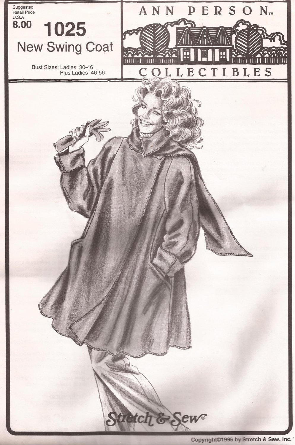 Ann Person Collectibles 1025 (1996) Swing Coat Pattern UNCUT