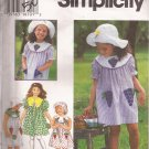 Simplicity 9463 (1995) Girls Childs Dress Hat Pattern Size 2 3 4 UNCUT