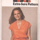 Simplicity 9022 (1979) Vintage Pullover Dress Drawstring Waist Pockets Pattern Size 10 12 14 UNCUT