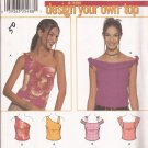 Simplicity 7020 (2001) Junior Tops Shoulder Variations Pattern Junior Sizes 11-12 13-14 15-16 CUT