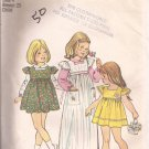 Simplicity 6184 (1973) Vintage Girls Childs Dress Jumper Blouse Pattern Size 4 UNCUT