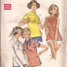 Butterick 5407 Vintage Polo Type Top Shirt Sleeve Variation Pattern Size 16 CUT