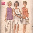Butterick 5319 Vintage Sleeveless Blouse Top Shirt Neck Variations Pattern Size 16 UNCUT