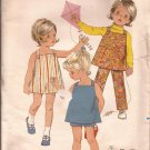 Butterick 5294 Vintage Toddler Dress Jumper Pants Shorts Pattern Size 3 CUT