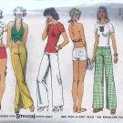 Simplicity 6354 (1974) Vintage Hip Hugger Pants Shorts Halter Top Pattern Size 16 UNCUT