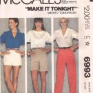 McCalls 6993 (1980) Pants Shorts Button Waist Pattern Size 16 UNCUT