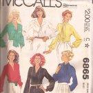 McCalls 6865 (1979) Vintage Classic Blouse Top Shirt Pattern Size 16 UNCUT