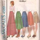 McCalls 4589 (1975) Vintage Skirt Pattern Five Variations Size 16 UNCUT