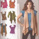 Simplicity 2283 (2010) Knit Tops Flowing Sleeveless Vest Pattern Size 14 16 18 20 22 UNCUT