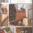 Simplicity 4842 (2001) Christmas Stocking Tree Skirt Gift Bag Pattern UNCUT