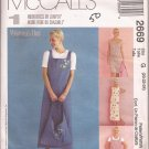 McCalls 2669 (2000) Dress Jumper Tote Bag Pattern Size 20 22 24 UNCUT