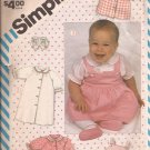 Simplicity 6257 (1983) Baby Layette Dress Gown Top Jumer Bootees Bib Pattern Size 1-3 6 12 Month CUT