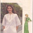 Butterick 5310 Vintage Boho Hippie Maxi Dress Top Pattern Embroidery Transfer Size Small CUT