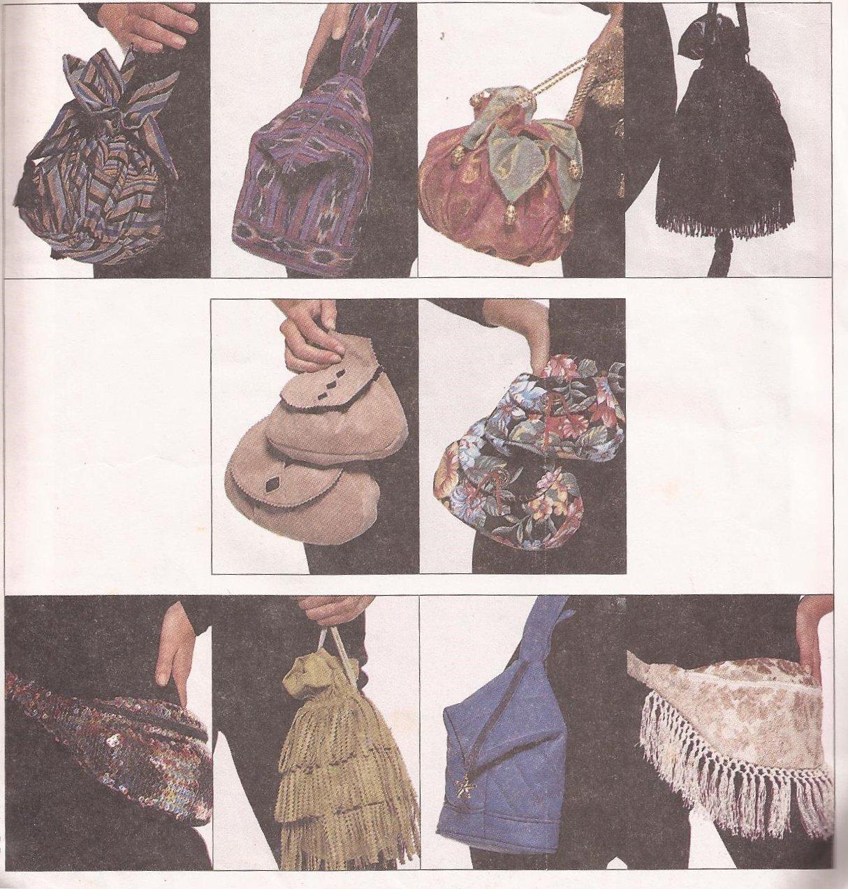 McCalls 5279 (1991) Ten Various Bag Purse Tote Pattern UNCUT