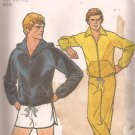 Simplicity 8360 (1977) Vintage Mens Hoodie Jacket Sweat Pants Shorts Pattern Size XL 46 48 UNCUT