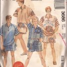 McCalls 3686 (1988) Misses Mens Teens Top Shorts Pattern Size Small UNCUT