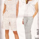 McCalls 2735 (2000) Easy Pull-on Pants Shorts Pullover Top Pattern Size 16 18 20 22 UNCUT