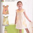 New Look P6043 (2011) Girls Childs Dress Tote Purse Applique Pattern Size 3 4 5 6 7 8 UNCUT