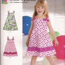New Look P6613 (2011) Girls Childs Pullover Dress Pattern Size 3 4 5 6 7 8 UNCUT