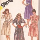Simplicity 5989 (1983) Pullover Dress Surplice Cross-Over Bodice Pattern Size 12 UNCUT