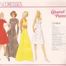 Creative Patterns C1 (1976) Vintage Halter Sundress Pattern UNCUT