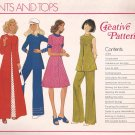 Creative Patterns B1 (1975) Vintage Pants, Top, Dress Pattern UNCUT