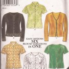 New Look 6814 Misses Womens Top Shirt Blouse Pattern UNCUT Size 10 12 14 16 18 20 22