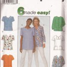 Simplicity 8351 (1998) Misses Womens Uniform Scrub Top Patch Pockets Pattern Size 8 10 12 UNCUT