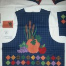 Harvest Vest Fall Thanksgiving Cut and Sew Fabric Size XS S M L