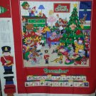 Christmas December Calendar Wall Hanging Toy Soldier Doll Booklet Fabric