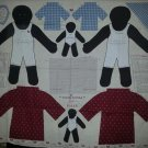 African American Samantha Polly Stuffed Doll Fabric Panel