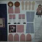 Homespun Hannah Americana Folk Stuff Doll Fabric Cut and Sew Panel