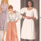 Butterick 4847 Puff Sleeve Sleeveless Blouse Skirt Pattern Size 12 14 16 UNCUT
