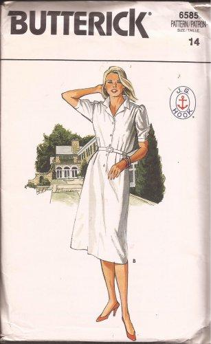 Butterick 6585 JG Hook Shirt Dress Pattern Size 14 UNCUT