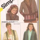 Simplicity 5287 (1981) String Panel Quilted Jacket Detachable Hood Pattern Size12 UNCUT