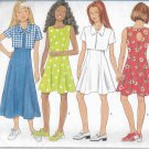 Butterick 4904 Girls Short Jacket Princess Seam Dress Keyhole Back Pattern Size 12 14 UNCUT