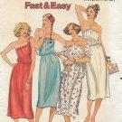 Butterick 6135 Vintage Misses Petite Strapless Halter Shoulder Dress Pattern Size 6 UNCUT