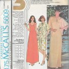 McCalls 5609 (1977) Vintage Misses Dress Kimono Jacket Pattern Size 14 16 18 PART CUT