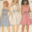 Butterick 6574 Girls Pullover Dress Sundress Pattern Size 7 8 10 UNCUT