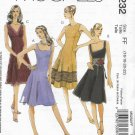McCalls 5232 (2006) Laura Ashley Misses Petite Lined Dress Pattern Size 16 18 20 22 UNCUT