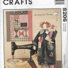 McCalls 8206 (1996) Vintage Sewing Doll Quilt Pattern UNCUT