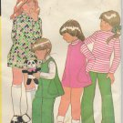 McCalls 3315 (1972) Vintage Childs Girls Dress Top Jumper Pants Pattern Size 6X UNCUT