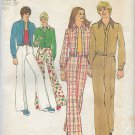 Simplicity 5590 (1973) Vintage Mens Unlined Jacket Wide Leg Pants Pattern Size 42 UNCUT