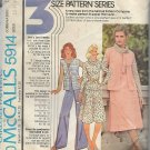 McCalls 5914 (1978) Vintage Vest Cowl Top Skirt Wide Leg Pants Pattern Size 12 14 16 UNCUT